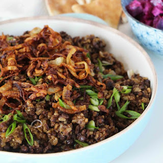 Mujaddara Rice and Lentil Pilaf Recipe