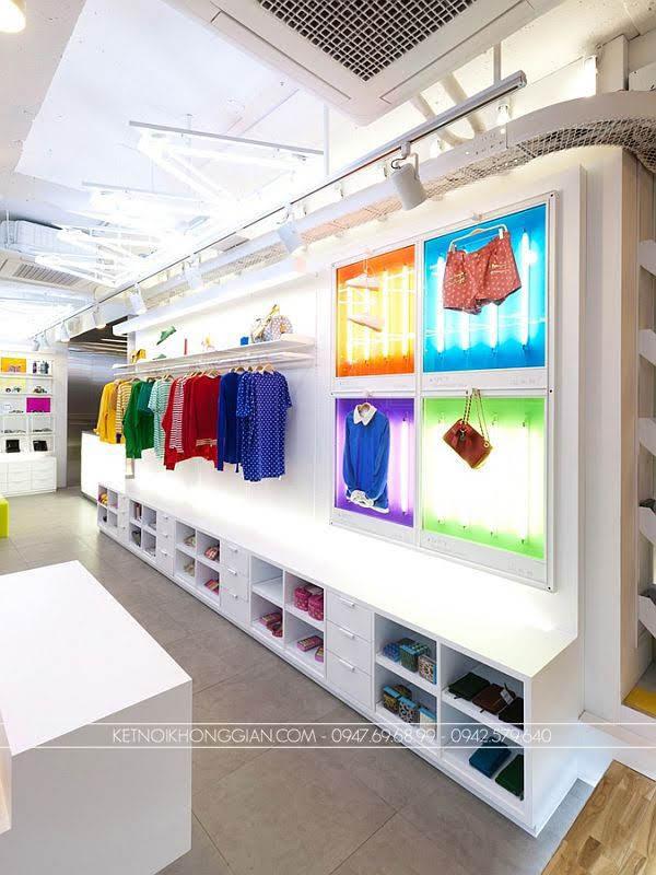 thiết kế shop thời trang đầy màu sắc 4