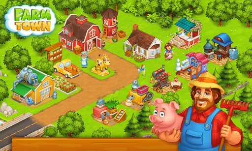 Farm Town: Happy village near small city and town 3.33 screenshots 4