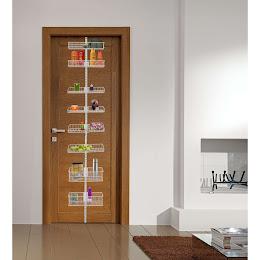 Organizator modular metalic pentru usa cu 8 piese Element System, alb