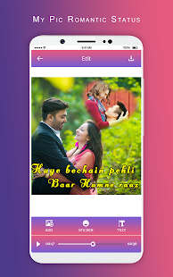 Download MyPic Romantic Lyrical Status Maker With Song For PC Windows and Mac apk screenshot 2