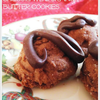 Chocolate and Orange Butter Cookies