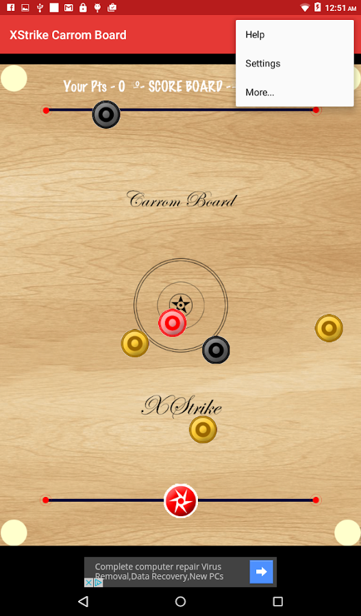 XStrike Carrom Board- screenshot