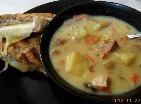 Good Ole Creamy Ham And Veggie Soup Recipe