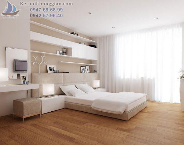 thiết kế phòng ngủ màu trắng