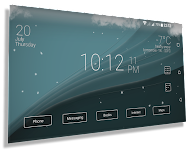 screenshot of Final Interface - launcher + animated weather