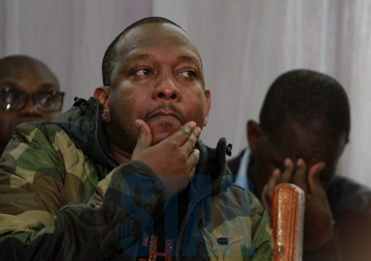 Nairobi Governor Mike Sonko at the Milimani Law court on December 9, 2019.