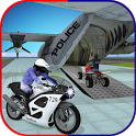 US Police Airplane: Kids Moto Transporter Games icon