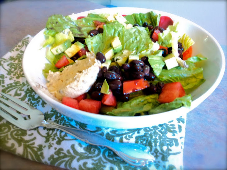 Green Salad with Avocado and Black Beans Recipe | Yummly