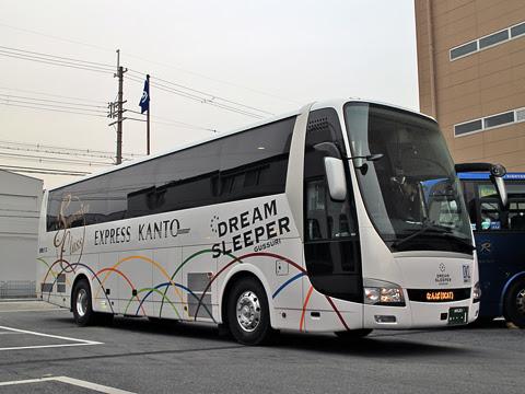 関東バス「ドリームスリーパー東京大阪号」 ・・・1 両備バス門真車庫にて