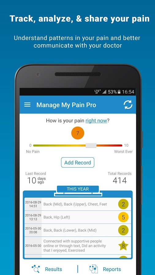 Manage My Pain Pro- screenshot