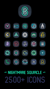 Nightmare Squircle ~ Dark S8/S9 Icon Pack Screenshot