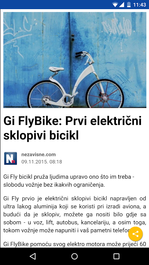 Novine BiH- screenshot