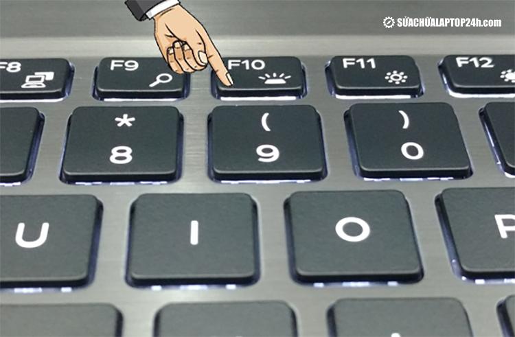 Bật đèn laptop Dell