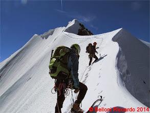 Photo: Ric_IMG_3522 io e Lorenzo sulla Suldengrat, finalmente neve, finche dura