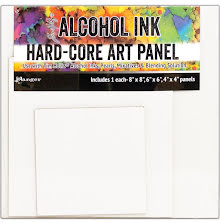Tim Holtz Alcohol Ink Hard Core Art Panel 3/Pkg - Square