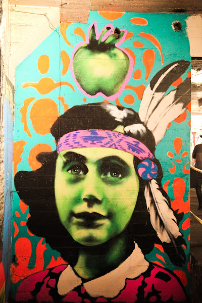 Photo: Anne Frank graffiti at Endless Canvas warehouse show in Berkeley, Ca. Photo by Matt Werner.http://oaklandlocal.com/posts/2012/09/endless-canvas-opens-sistine-chapel-graffiti-art-community-voices