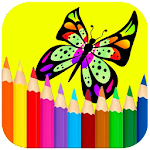 Butterfly Coloring Book Pages Icon