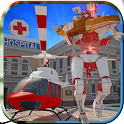 Robot Helicopter Simulator icon