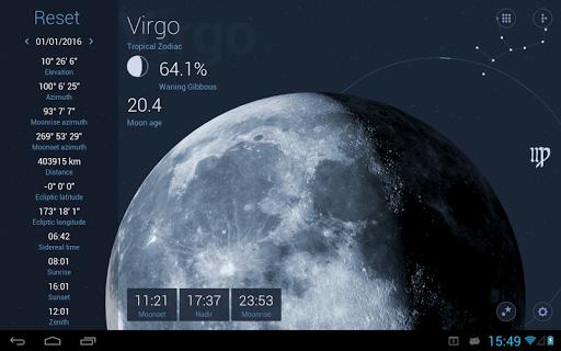 Deluxe Moon HD-Lunar Calendar App Report on Mobile Action
