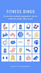 Fitness Bingo - Facebook Story item