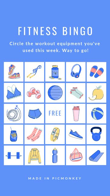Fitness Bingo - Facebook Story Template