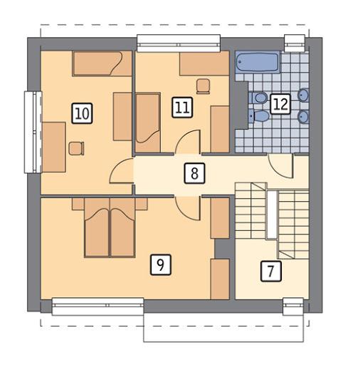 Łączący - podpiwniczony - C285 - Rzut piętra