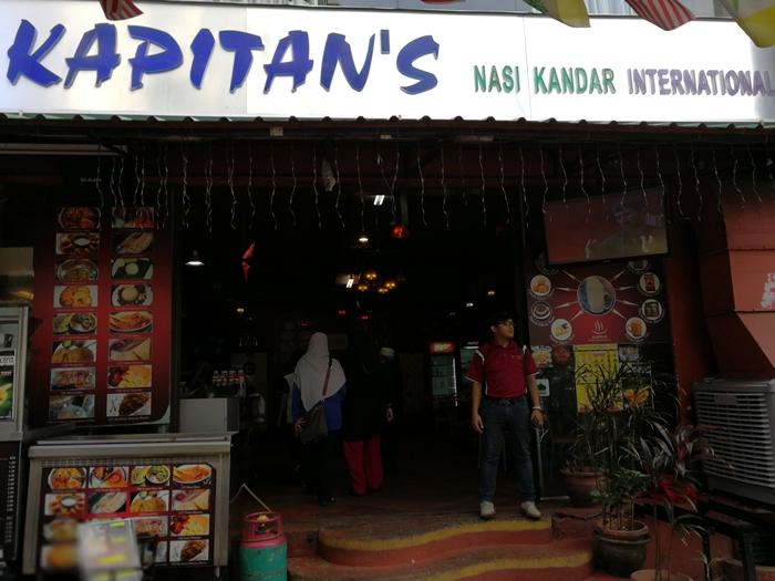 Makan tengahari di Restoran Kapitan Nasi Kandar