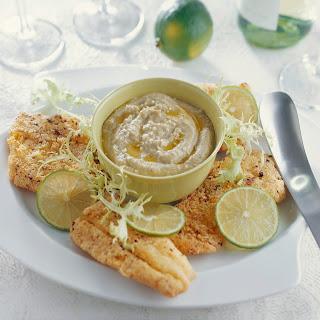 Limetten-Fischfilet mit Melanzanipüree