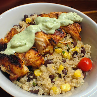 Spiced Grilled Chicken Bowls with Avocado Cream