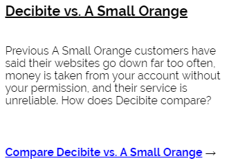 Decibite vs A Small Orange