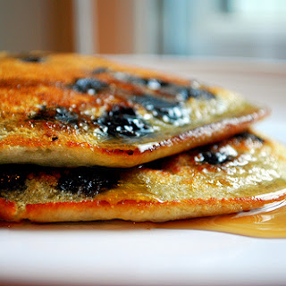 PALEO BLUEBERRY BANANA PANCAKE.