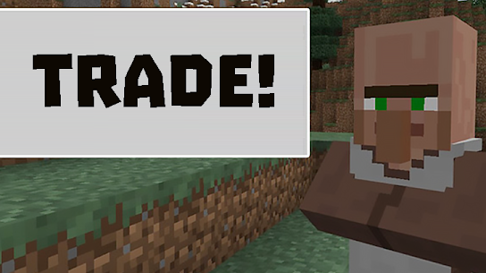 Trade mods for Minecraft PE 2