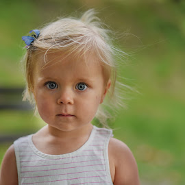 Blue eyes by Piotr Owczarzak - Babies & Children Children Candids ( young, girl, eyes, cute, kids )