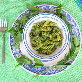 Pasta with Lamb and Mint Pesto