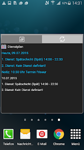 Dienstplan-Kalender Screenshot