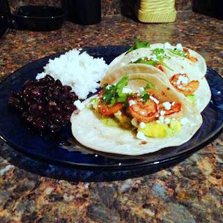 Chipotle Shrimp Tacos with Mango Salsa.