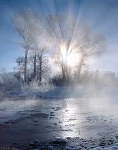 Photo: Winter sunrise along the Uncompahgre River, on a frigid bluebird December morning.