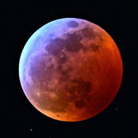 Blood moon over Naples by Ruth Overmyer - Landscapes Sunsets & Sunrises