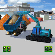 Road Construction Excavator Crane Driver Simulator
