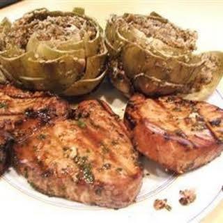 Marinated Tuna Steak.