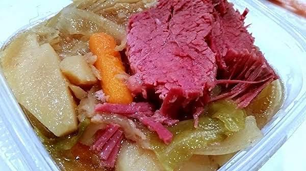 Simple Corned Beef & Cabbage - Crock Pot Tender