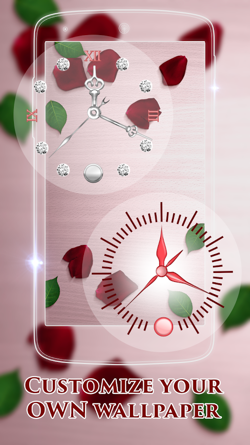 Rose Clock Live Wallpaper Android S On Google Play