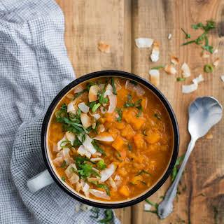 Coconut Curry Red Lentil Soup.