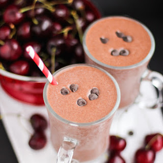 Healthy Black Forest Milkshake (refined sugar free, high protein).