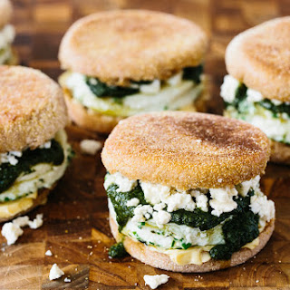 Herbed Egg Whites & Feta on English Muffins
