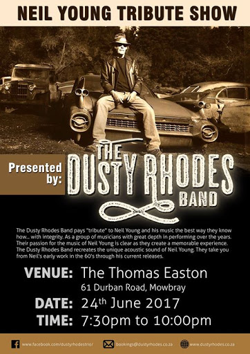 young and in the way band whats on at the thomas easton the dusty rhodes band neil young