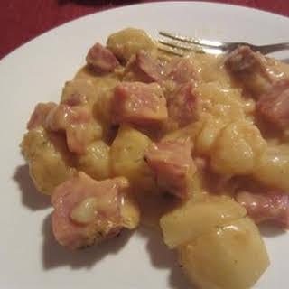 Leftover Ham -n- Potato Casserole.
