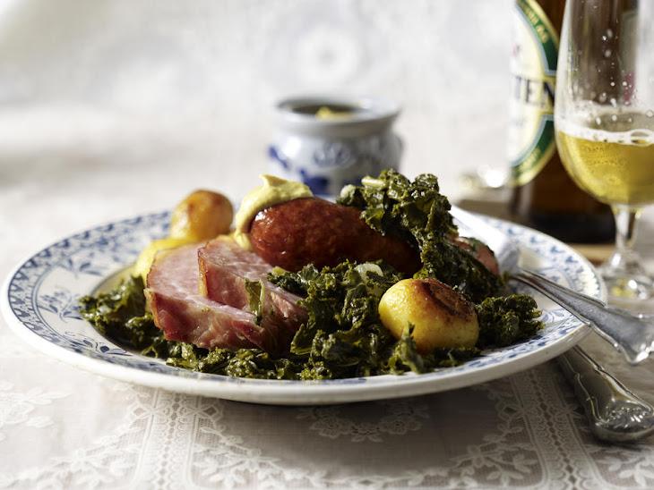 Kale with Ham and Smoked Sausage Recipe