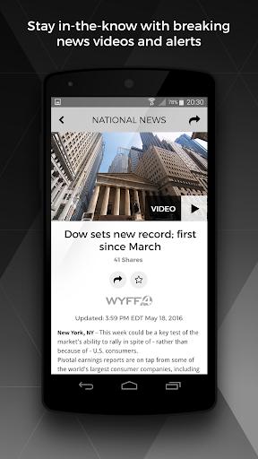 WYFF News 4 and weather screenshot